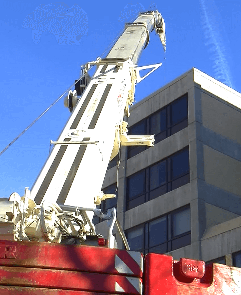 BluSky Commercial Roofing Crane