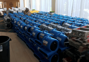 BluSky restoration equipment deployed for Hurricane Florence recovery