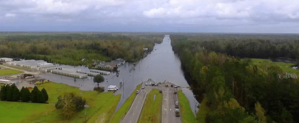 BluSky Hurricane Florence Flooded Highway